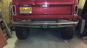 1966 - 1977 Early Bronco - Rear 3-Tube Prerunner Bumper #BR33