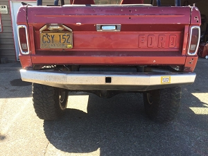 1966 - 1977 Early Bronco - Rear Plate Bumper #BR31